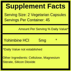 PRIMAFORCE YOHIMBINE 2,5 MG – 90 CAPS